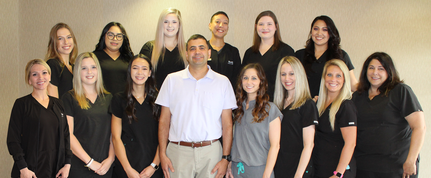 Photo of dentists and staff of Bhargava Family Dentistry in Wichita