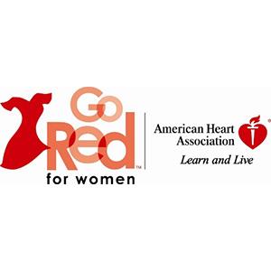 logo for American Heart Association's Go Red for Women program