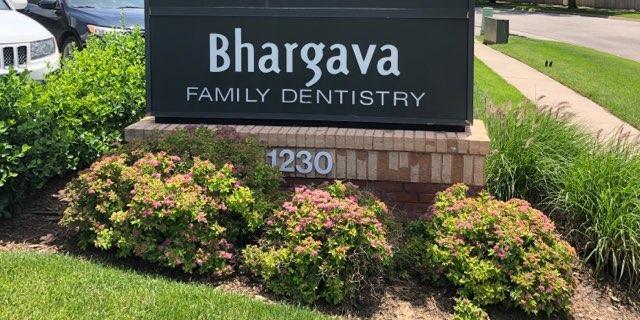 Sign of Bhargava Family Dentistry along Broadmoor road in northeast Wichita