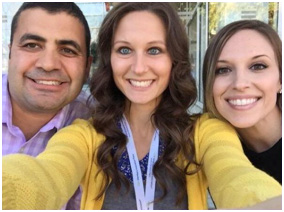 Photo of Dr Bhargava, Dr Valentine and a dental assistant smiling for a selfie